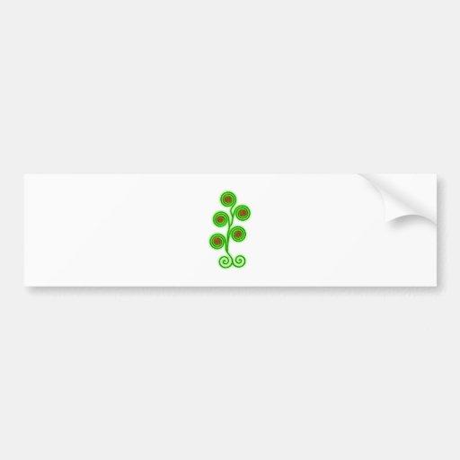 Plant spirals plans spirals bumper sticker