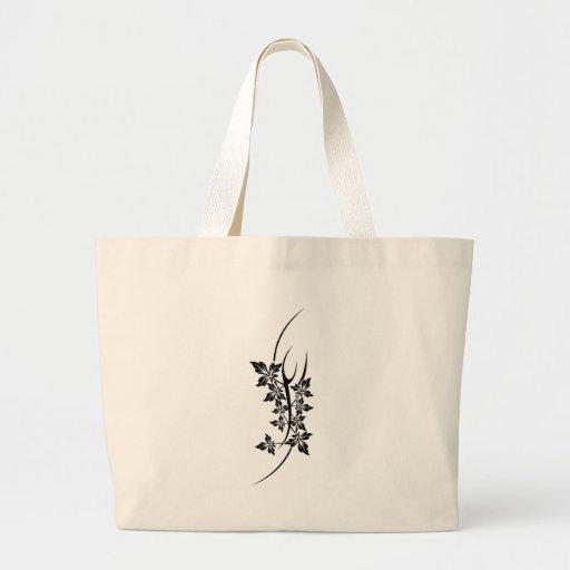 plant tattoo canvas bag
