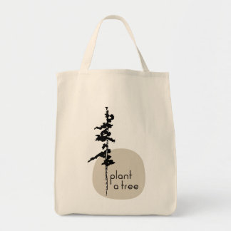 Plant to Tree, organic cotton Grocery Tote Bag