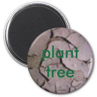 plant tree refrigerator magnet