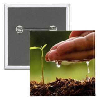 Plant trees 15 cm square badge