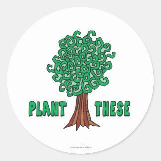 Plant Trees Classic Round Sticker