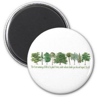 Plant Trees Refrigerator Magnet