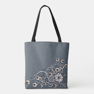 plant with fruit eyes tote bag