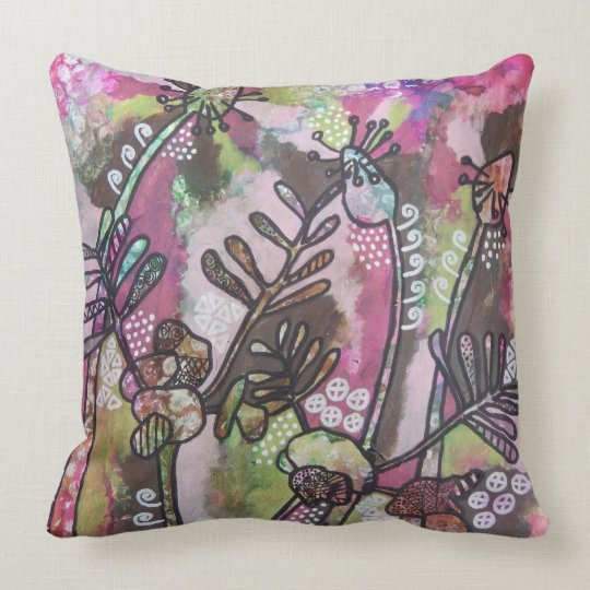 Plantain and Vetch Whimsy Cushion