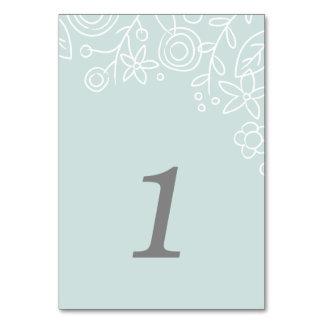 Plantation Table Number Card - Aqua