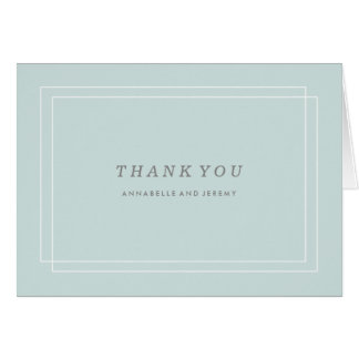 Plantation Thank You Card - Aqua