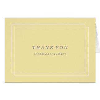 Plantation Thank You Card - Lemon