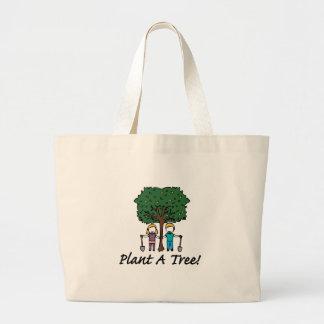Planting a Tree Jumbo Tote Bag