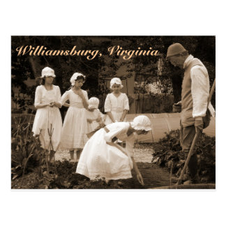Planting Seeds in Colonial Williamsburg Postcard