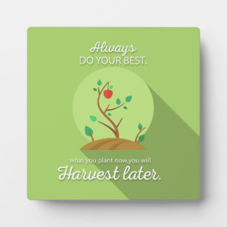 Planting what you will harvest green flat design display plaques