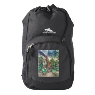 Plants and a tree backpack