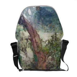 Plants and a tree messenger bags