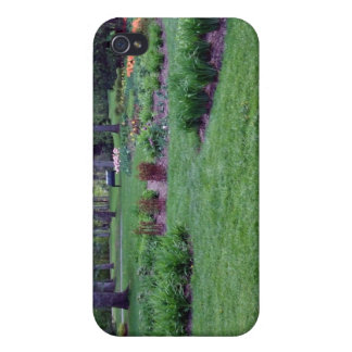 Plants and flowers in a beautiful park iPhone 4 cases