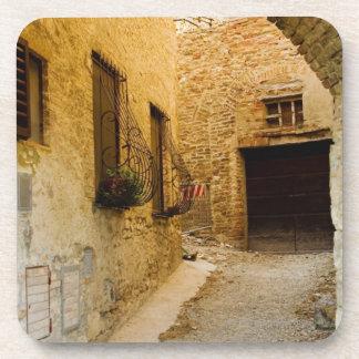 Plants in window boxes, San Gimignano, Siena Coaster