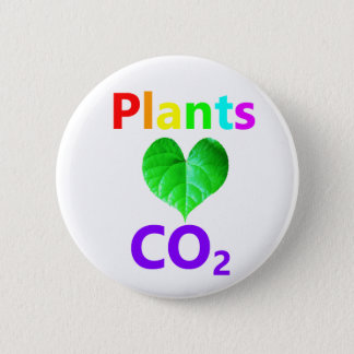 Plants Love CO2 6 Cm Round Badge
