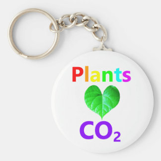 Plants Love CO2 Basic Round Button Key Ring