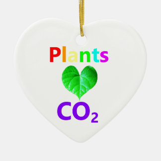 Plants Love CO2 Ceramic Heart Decoration