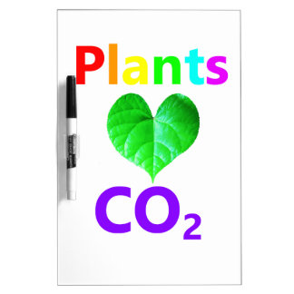 Plants Love CO2 Dry-Erase Boards