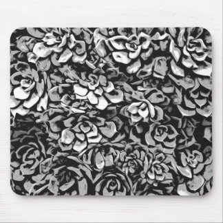 Plants of Black And White Mouse Pad
