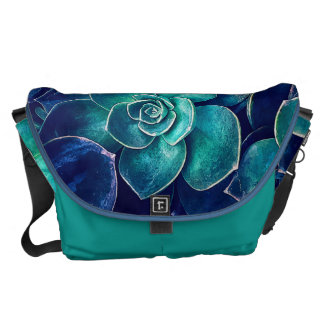 Plants of Blue And Green Messenger Bag