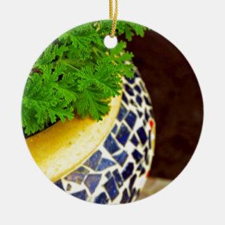 Plants Pot Round Ceramic Decoration