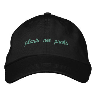 Plants/punks??? Embroidered Hat