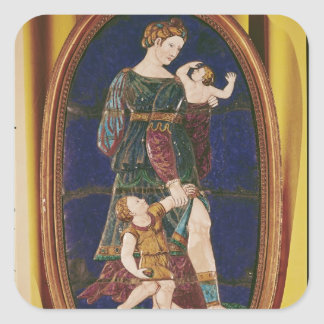 Plaque depicting Charity, Limousin, 1559 Square Sticker