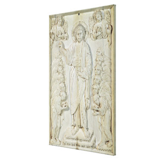 Plaque depicting Christ blessing the Apostles Canvas Prints