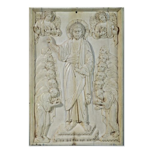 Plaque depicting Christ blessing the Apostles Posters