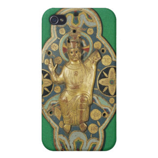 Plaque depicting God blessing Covers For iPhone 4