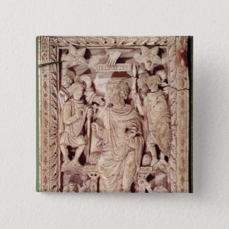 Plaque depicting King David enthroned 15 Cm Square Badge