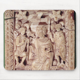 Plaque depicting King David enthroned Mouse Mat