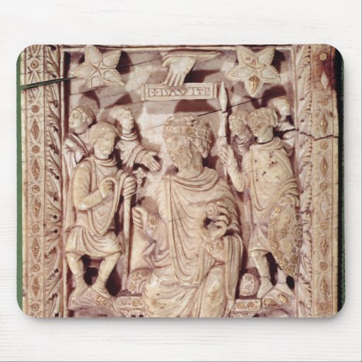 Plaque depicting King David enthroned Mousepads