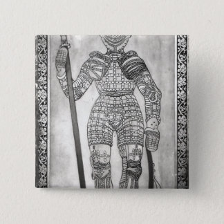 Plaque depicting the armour of Joan of Arc 15 Cm Square Badge
