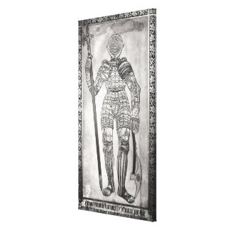 Plaque depicting the armour of Joan of Arc Canvas Print