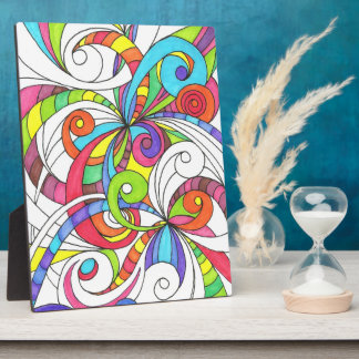 Plaque Floral abstract background