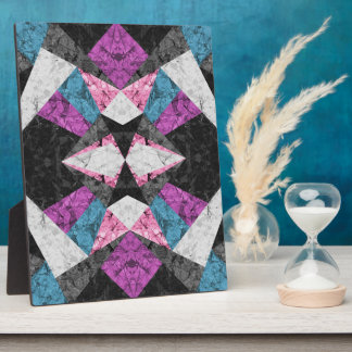 Plaque Marble Geometric Background G438