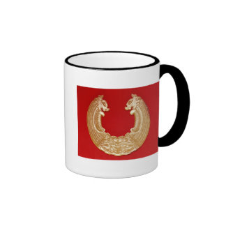 Plaque with two dragons and a Tao-tie mask Coffee Mugs