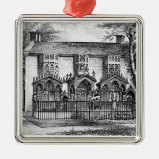 Plas Newyyd, near Llangollen, Wales, the seat of L Christmas Ornament