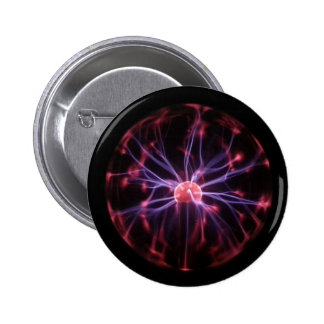 Plasma Ball 6 Cm Round Badge