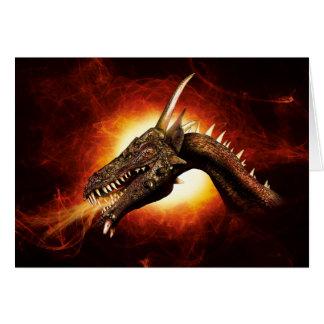 Plasma Dragon Note Card