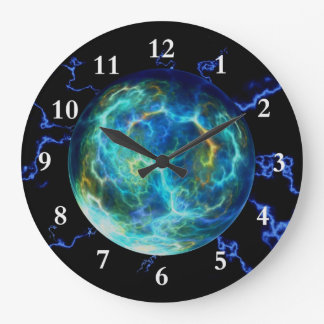 Plasma Electric Large Clock