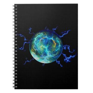 Plasma Electric Spiral Notebook