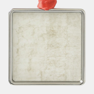 Plaster Antique Paper Template Blank neutral Silver-Colored Square Decoration