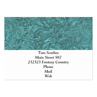 plaster aqua (I) Pack Of Chubby Business Cards
