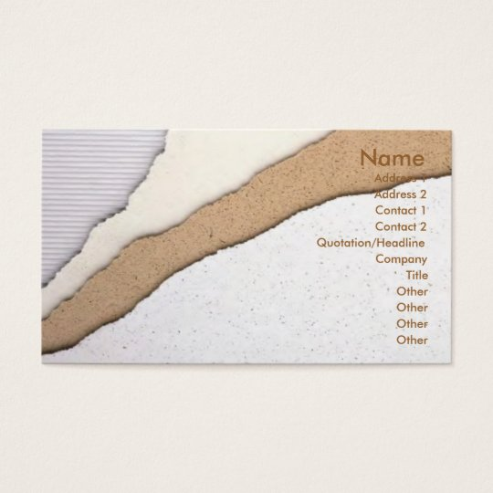 Plaster Coating Business Card