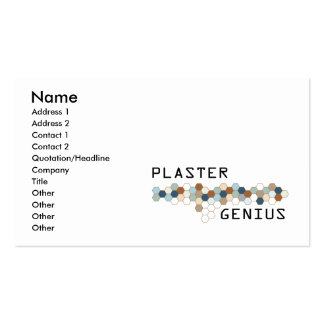 Plaster Genius Pack Of Standard Business Cards