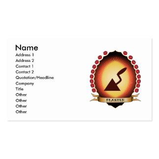 Plaster Mandorla Business Card Templates