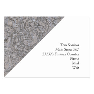 plaster silver (I) Pack Of Chubby Business Cards